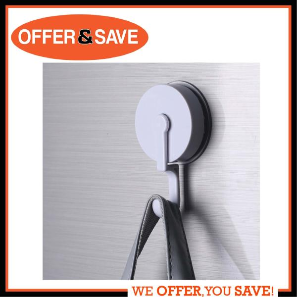 ONS 6226 All Purpose Removable Heavy Duty Suction Cup Hooks 1 Pack for Kitchen Wreath Bathroom Shower Hook Window Glass Power Lock Suction Hooks