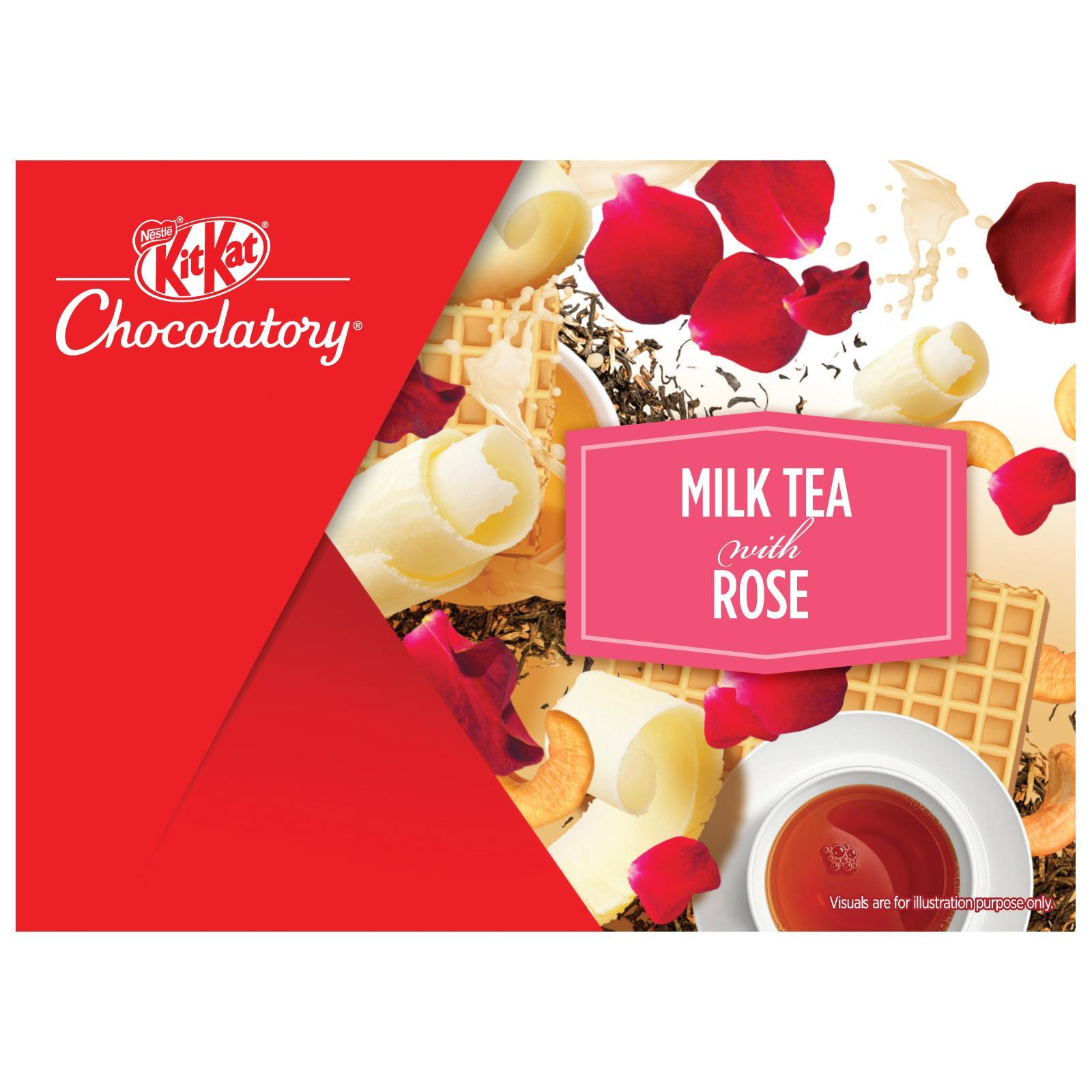 NESTLE KIT KAT Chocolatory Milk Tea with Rose (Special Edition)