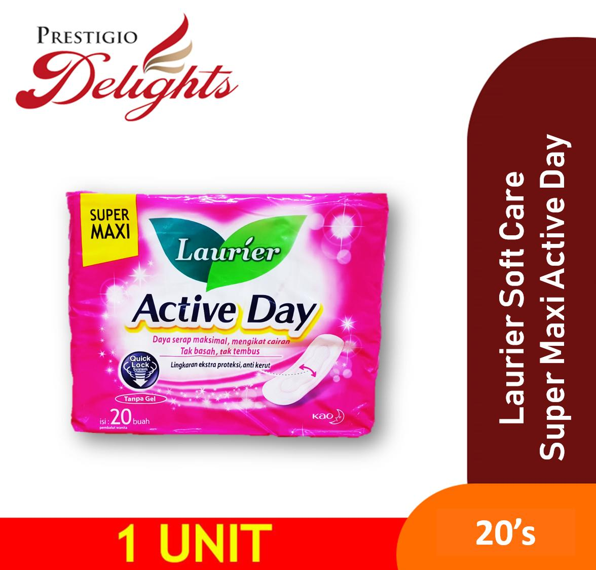 Laurier Soft Care Super Maxi Active Day 20s By Prestigio Delights.