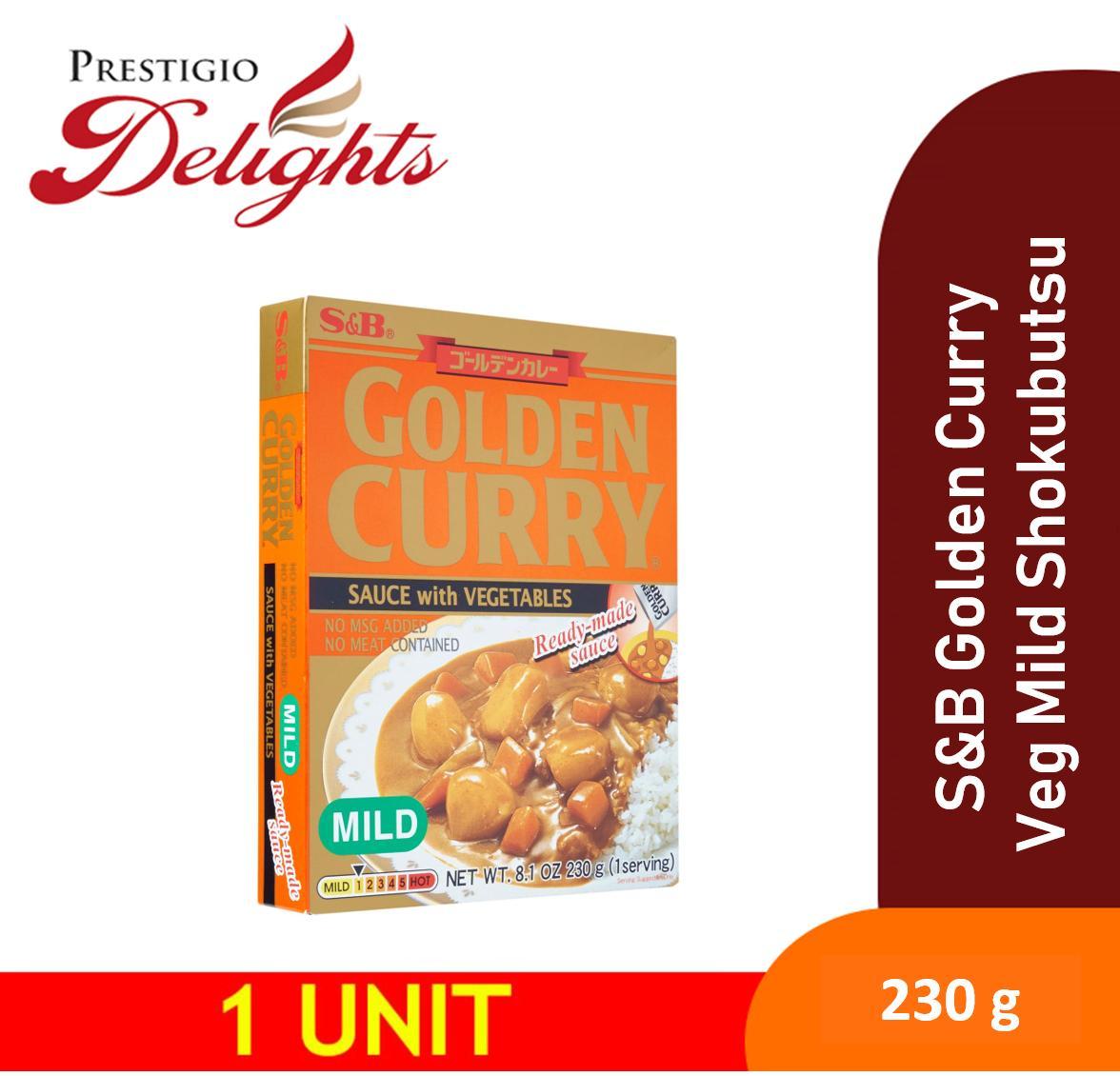 S&b Golden Curry With Vegetables Mild Shokubutsu 230g By Prestigio Delights.