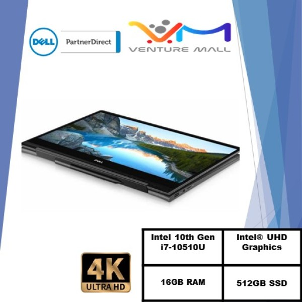 (READY STOCK)DELL Inspiron 13 7300 2in1/7300-10515SGL-UHDT 13.3/I7-10510U/16GB RAM/512GB SSD/WIN 10/TOUCH