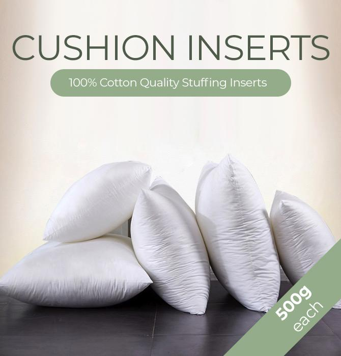 [BUNDLE OF 3 CHEAPEST & QUALITY] Premium Fluffy Square Cushion Filling Inserts / Cushion Cover Inserts / Cushion Cover Filling / - 100% PP Fiber / 50cm x 50cm