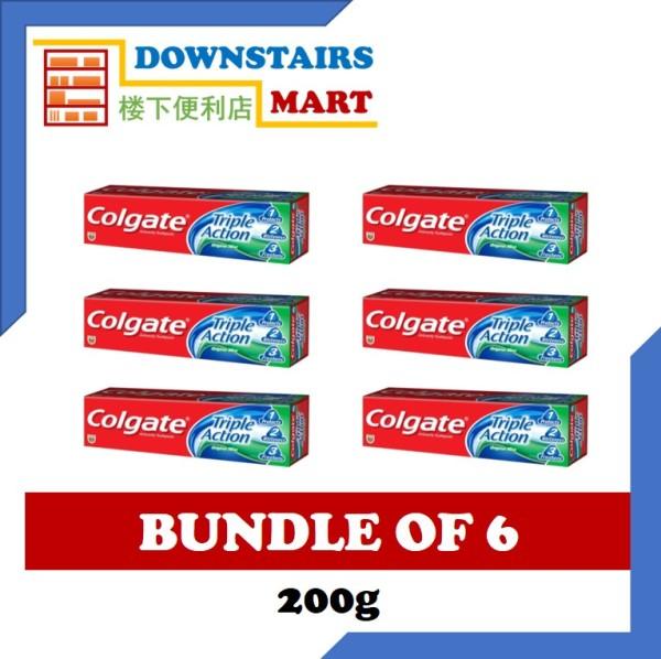 Buy [Bundle of 6] Colgate Triple Action 200g x 6 Singapore