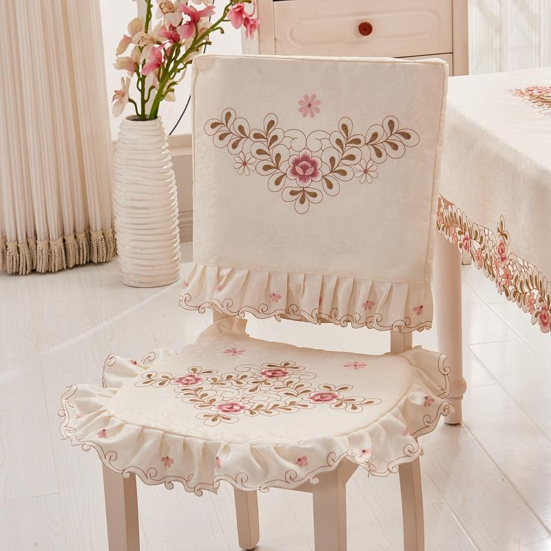 Yira Pastoral Fabric Chair throw pillow Cover throw pillow Dining Chair throw pillow Two-Piece Set