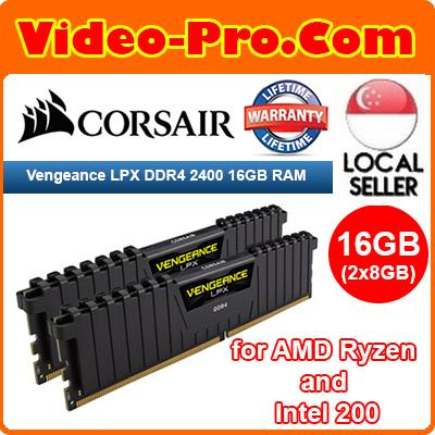 Corsair Vengeance LPX 16GB (2x8GB) DDR4 2400 (PC4-19200) C16 1 2V for AMD  Ryzen and Intel 200- Black