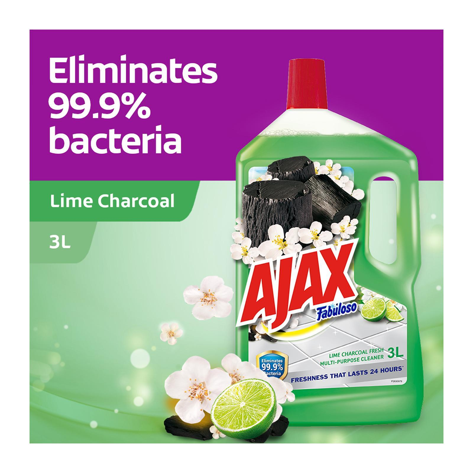 Ajax Fabuloso Lime Charcoal Antibacterial Multi Purpose Floor Cleaner 3L