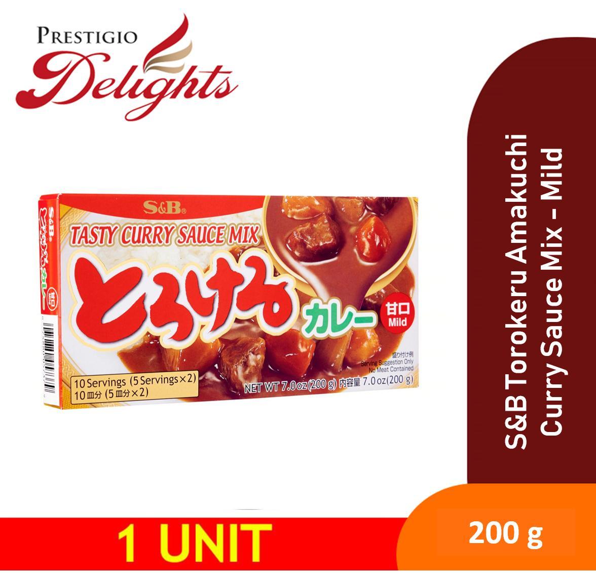 S&b Torokeru Amakuchi Curry Sauce Mix - Mild 200g By Prestigio Delights.