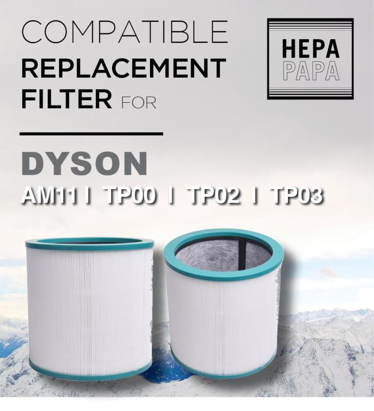 Compatible Replacement Filter for Dyson  AM11, TP00, TP02, TP03 [Free Alcohol Swab] [SG Seller] [7 Days Warranty] Singapore