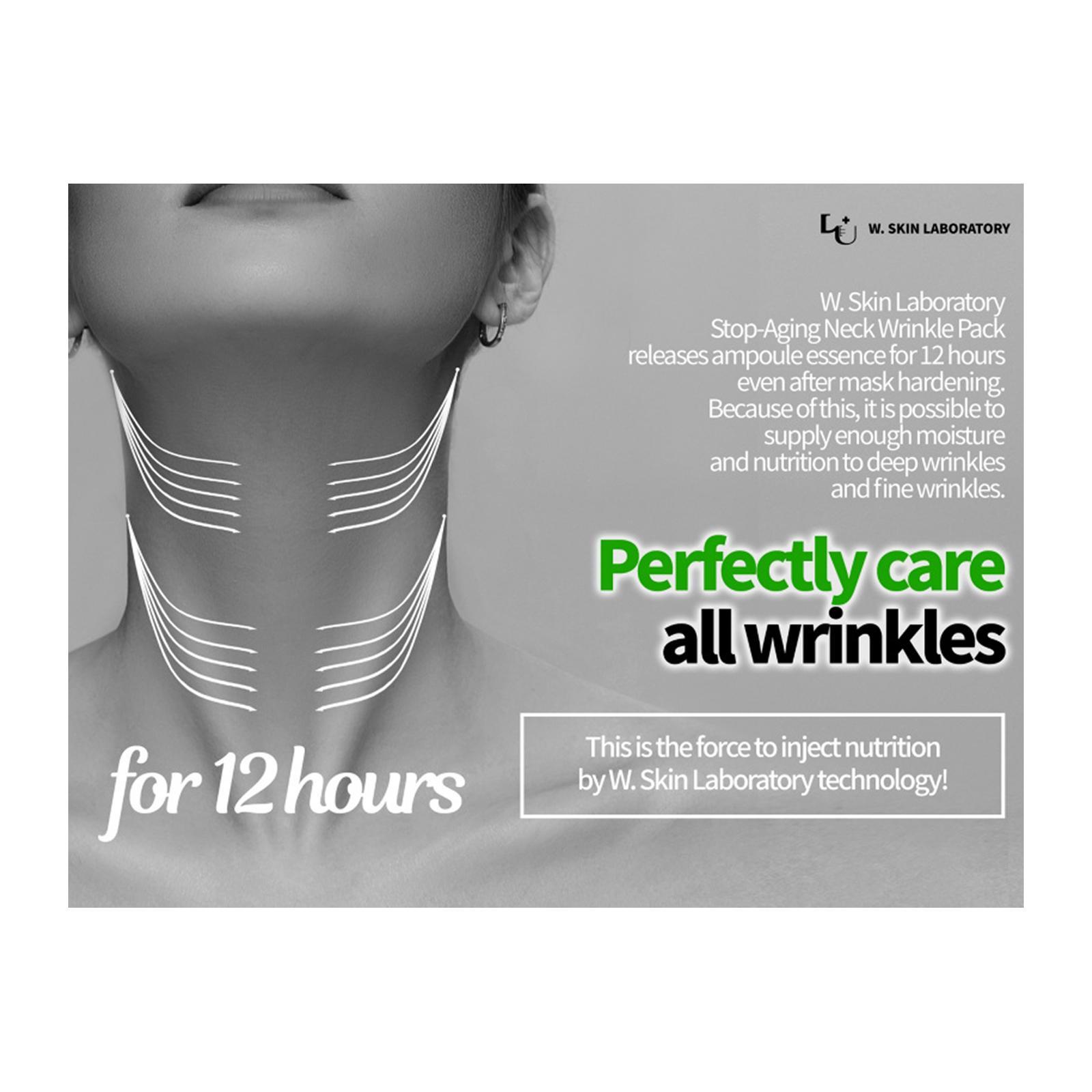 W.Skin Laboratory Peel Off Neck Line Wrinkle Mask Pack