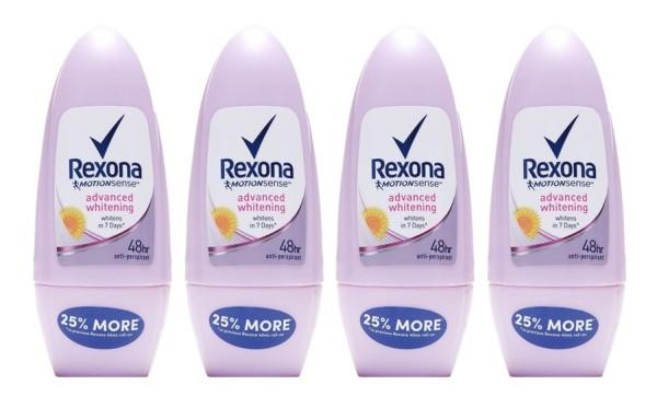Buy REXONA (Bundle of 4) Deodorant Roll-on [Women Advanced Whitening 50ml] Singapore