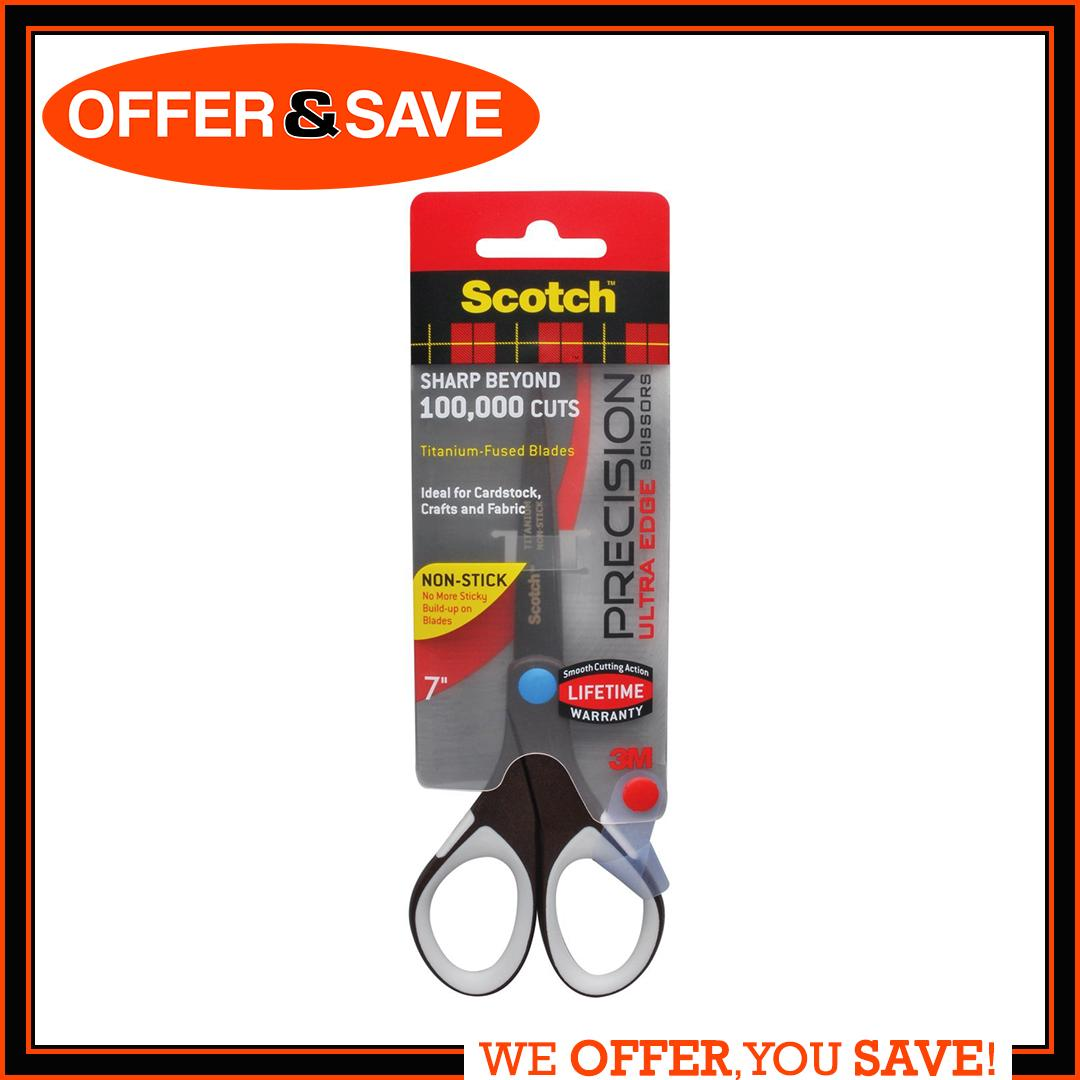 Scotch™ Precision Ultra Edge Non-Stick 7 In Scissor 1467tuns-Mix By Offer & Save.