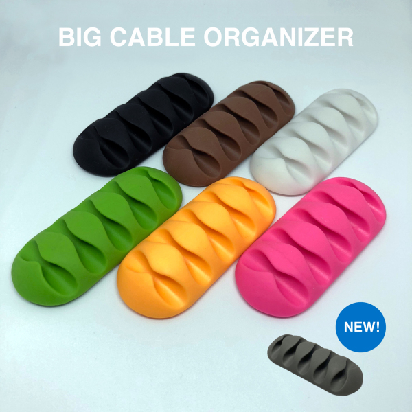 Big Silicone Cable Organiser - 5 Slots