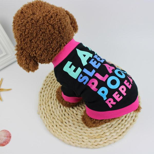 【Pet Shop】 Miễn Phí Vận Chuyển Chó Quần Áo Cotton T-Shirt Puppy Trang Phục Cho Chó Nhỏ