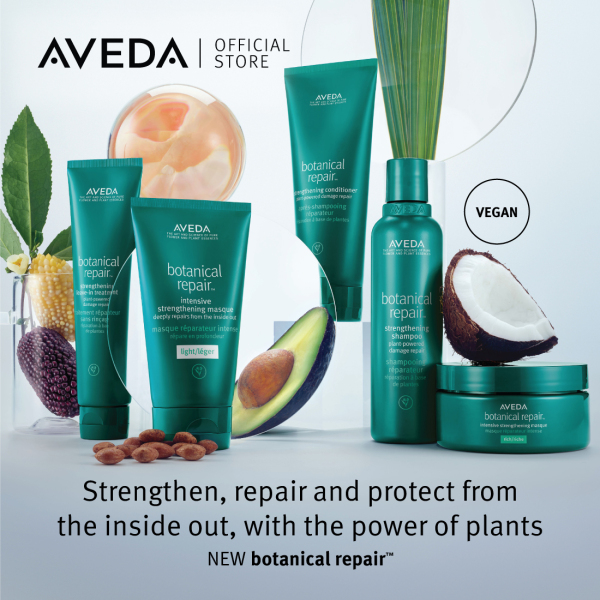 Buy [Exclusive Offer] AVEDA 5-pcs Botanical Repair Set - Strengthening Shampoo 200ml + Strengthening Conditioner 200ml + Strengthening Masque Light 2x25ml + Strengthening Leave-in Treatment 25ml Singapore