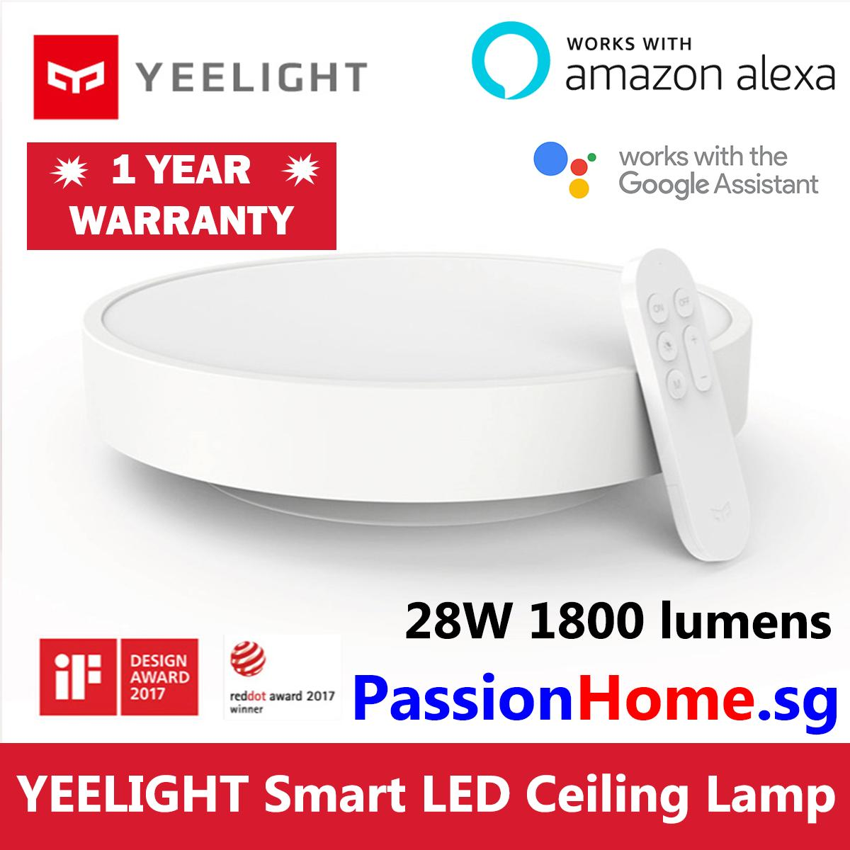 Ble Led Yeelight Lumens Wifi Home Light Remote Ylxd01yl 28w Smart Xiaomi Lampwhite320mm 1800 Control Mijia Included Ceiling 320 WD9YIEH2