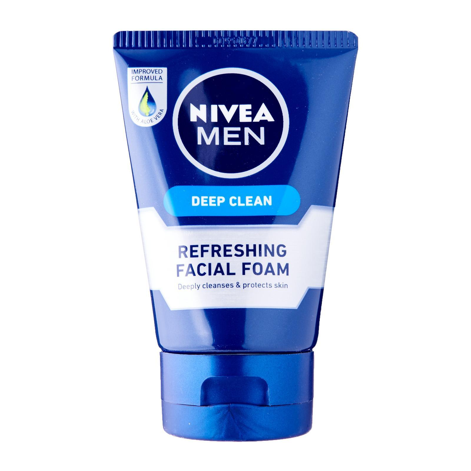 Nivea Face Care for Men Cleanser Deep Clean Facial Foam