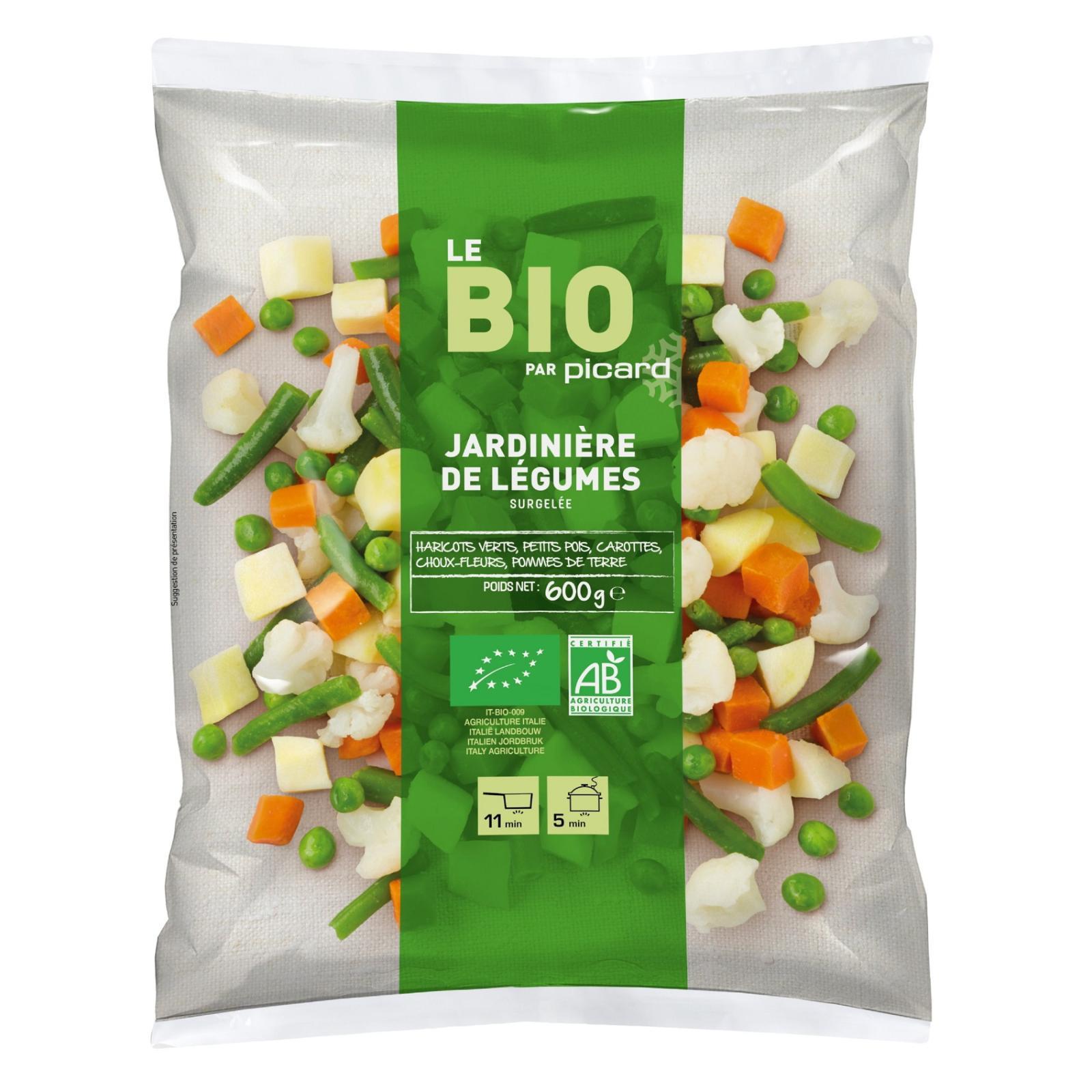 Picard Organic Vegetable Mix (Grean Beans Peas Carrots Cauliflower Potatoes) - Frozen