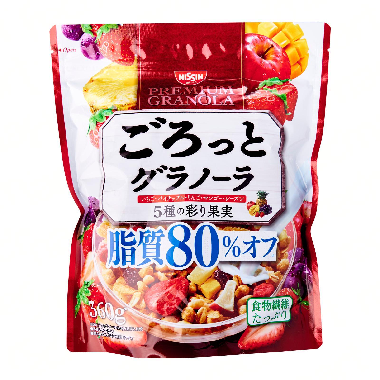 Nissin Gorotto Fats 80 Percent Off Fruits Granola