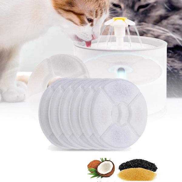 SHEN926 Đài Phun Nước Đa Năng Tự Động Máy Lọc Than Hoạt Tính Cho Thú Cưng Mèo Con Bộ Lọc Thay Thế Máy Lọc Đài Phun Nước