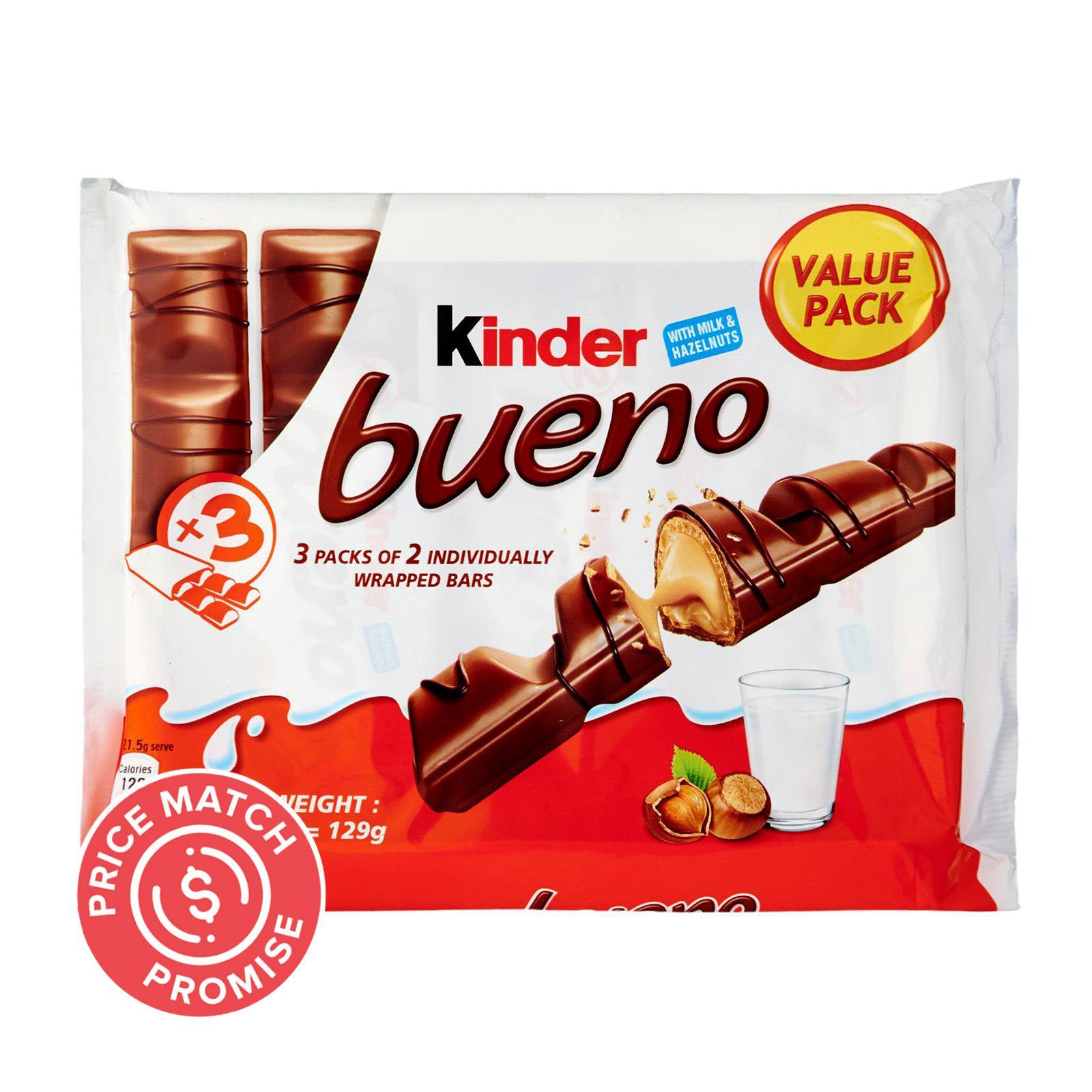 Kinder Bueno Chocolate Wafer Bar - Milk