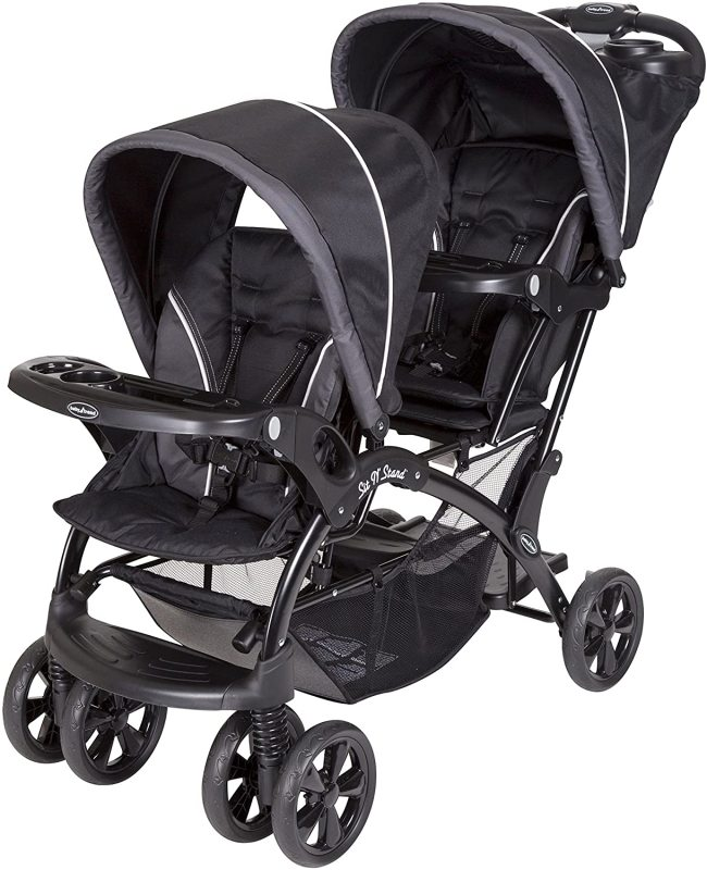 Baby Trend Sit and Stand Double 2 Two Baby Infant Child Children Kids Seat Seater Twin Stroller, Onyx Singapore