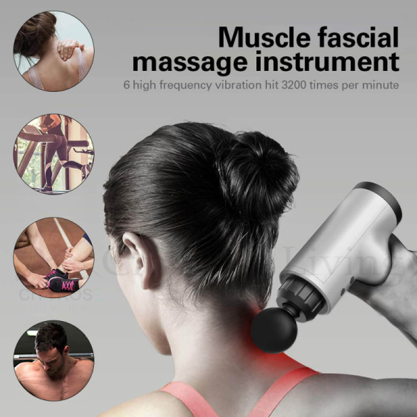 Buy Muscle Massage Gun Deep Tissue Massager Vibrating Fascial Gun Body Massager Exercise Muscle Relax Pain Relief Body Shaping Singapore