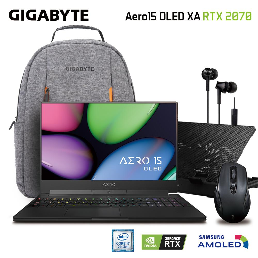 GIGABYTE AERO 15 OLED XA (i7-9750H/16GB SAMSUNG DDR4 2666 (8GB*2)/GeForce RTX 2070 GDDR6 8GB Max-Q/512GB INTEL 760P PCIE SSD/15.6 Thin Bezel Samsung 4K UHD AMOLED/WINDOWS 10 PROFESSIONAL) [Ships 2-3 days]