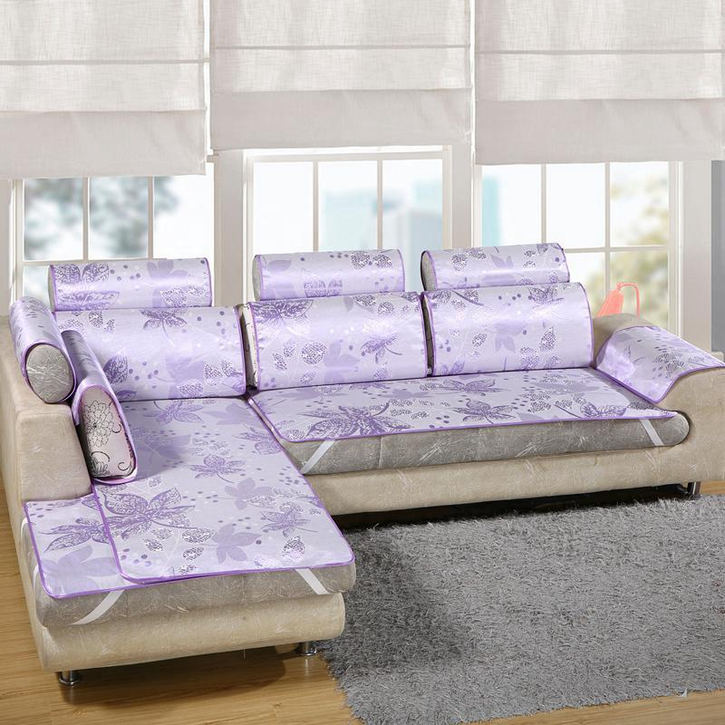 【HOT】№△Summer ice silk sofa mat Cool cushion simple modern anti-skid