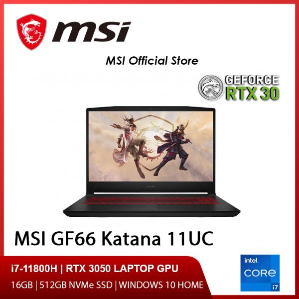 NEW 11th Gen MSI GF66 11UC-068SG Gaming Laptop (i7-11800H/RTX 3050/15.6 FHD 144hz/W10/2Y)