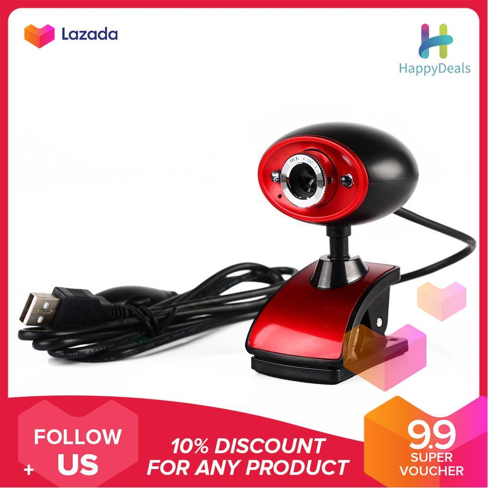 {9.9 Hot Sale Festival}USB 16MP HD Webcam Camera with MIC for Computer PC Laptop (Black) - intl