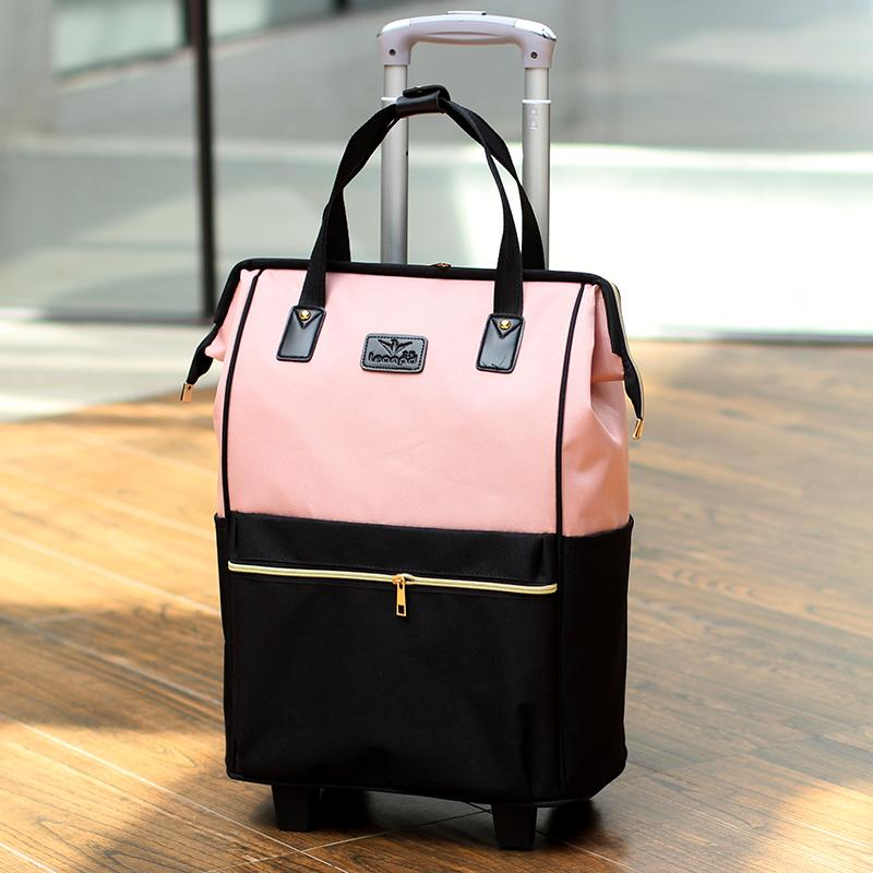 Korean Style Luggage Trolley Bag Female Handheld Traveling Bag Large Capacity Light Short Trip Boarding Bag Tourism Luggage Bag Male
