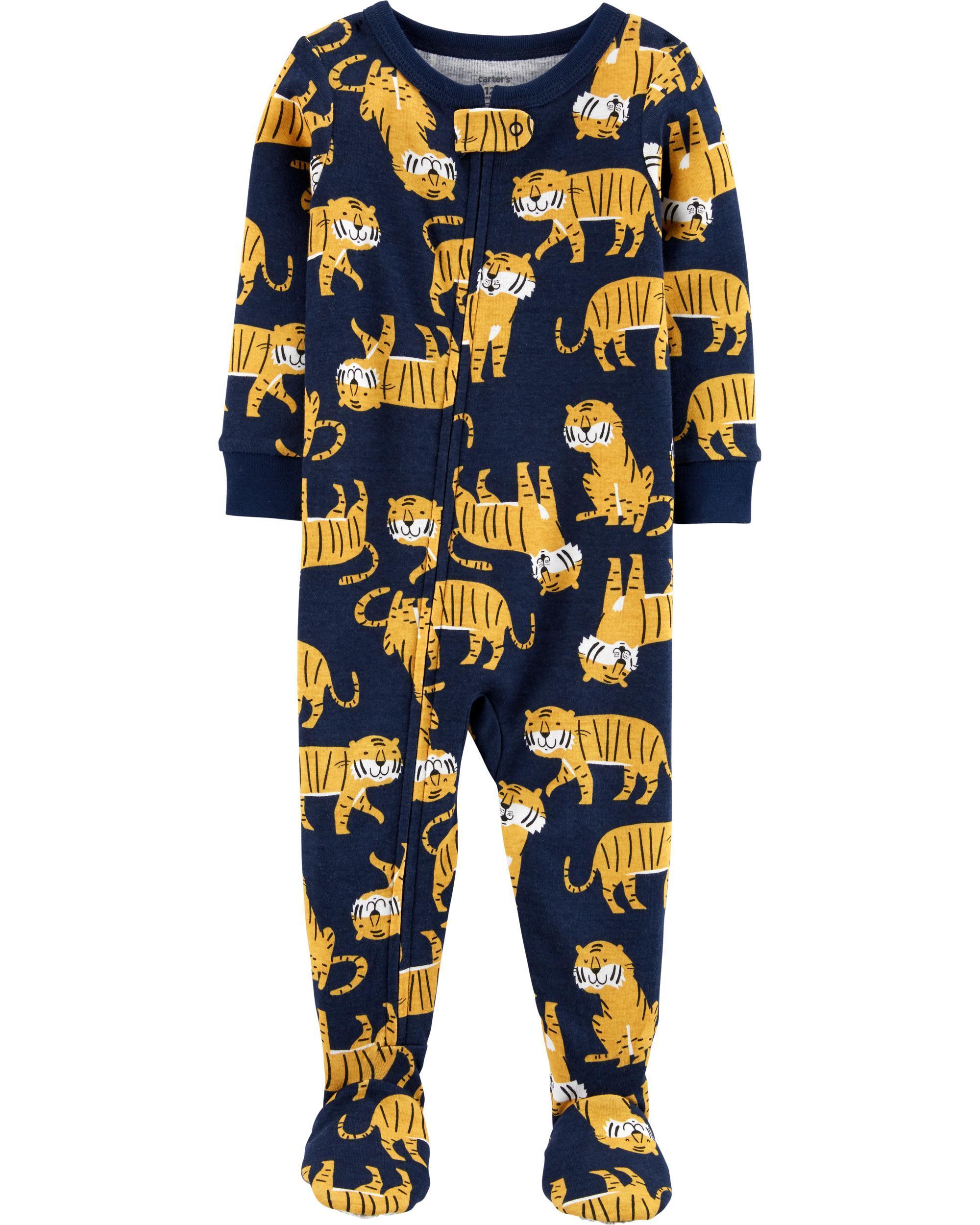 NWT Carters Fire Truck Construction Toddler Boys Footed Fleece Sleeper Pajamas