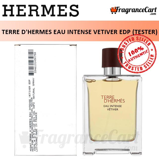 Hermes Terre Dhermes Eau Intense Vetiver Edp For Men (100ml Tester) Eau De Parfum Dhermes Extreme [100% Authentic Brand New Perfume/fragrance].