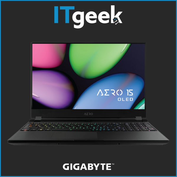 Gigabyte AERO 15 OLED (RTX 30 Series) 15.6 4K UHD Samsung OLEDIntel i7-10800HRTX 3070 MAX-Q8GB GDDR62*8GB 3200MHz1TB NVMe PCIe Gen4Win 10 Home Gaming Laptop