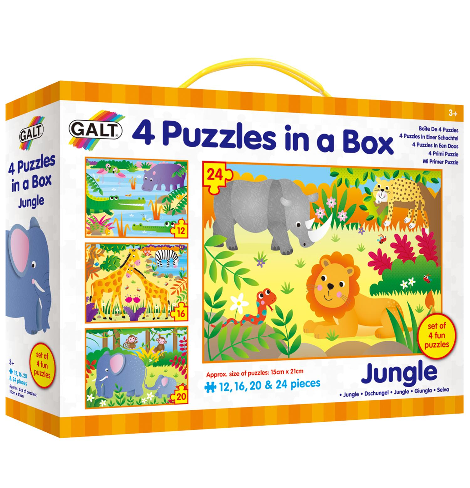 Galt 4 Puzzles in a Box - Jungle