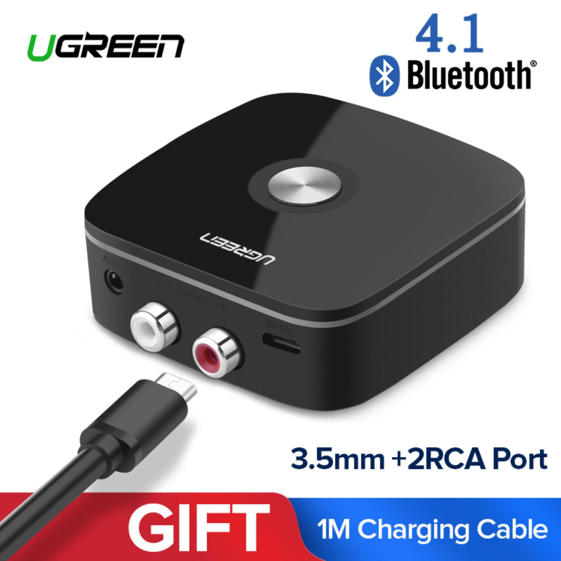 UGREEN Mini Bluetooh 4.1 Audio Receiver Wireless Music Adapter with RCA Connection for Car Home Speaker