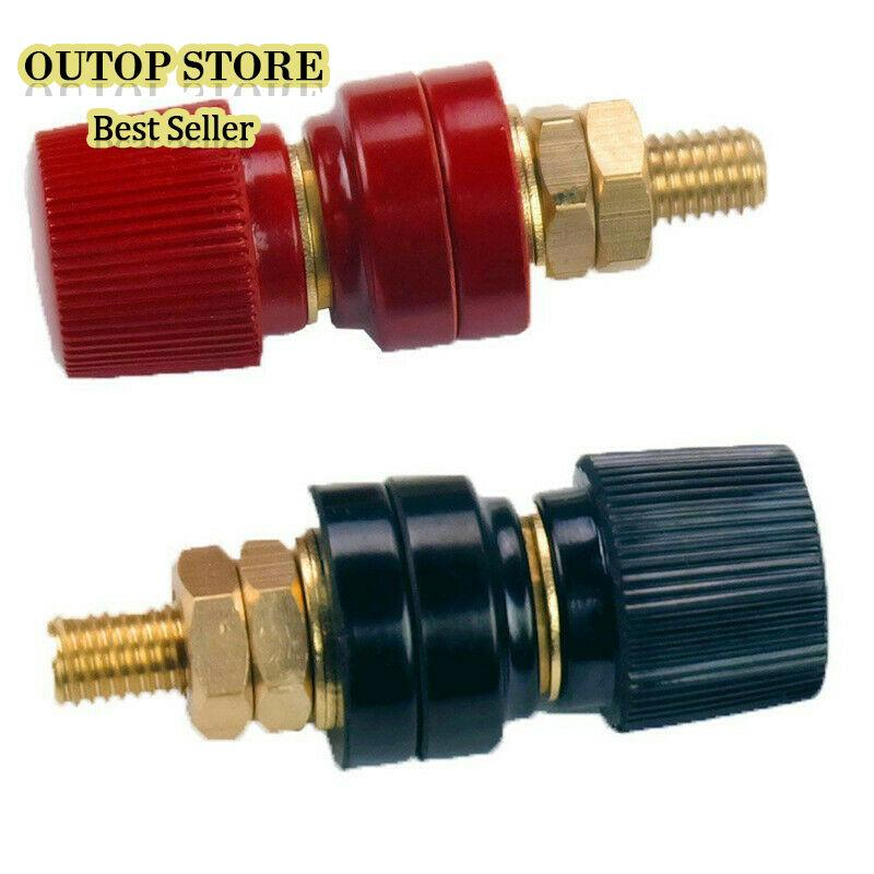 OUTOP 2Pcs/Set 10mm Stud Premium Remote Battery Power Junction Post Connector Terminal Kits(1Red+1Black)