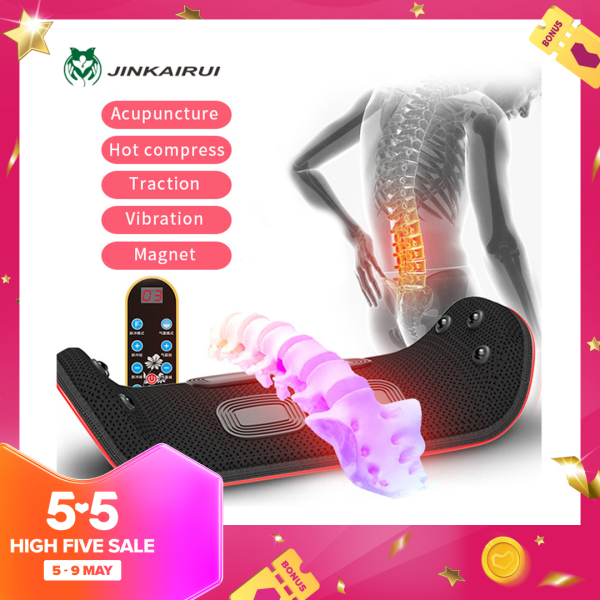 Buy Jinkairui Waist Massager Electric Lumbar Traction Massage Machine Heating Vibration Vibration Magnet Hot Compress Waist Relieve Fatigue Singapore