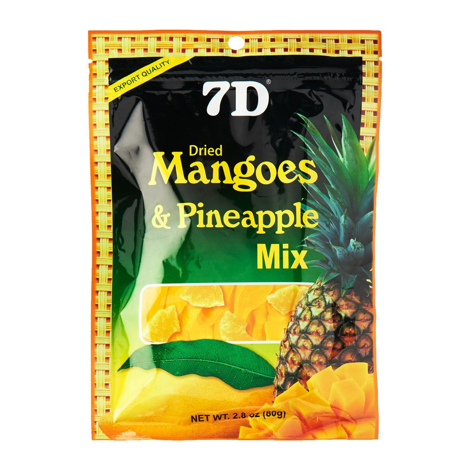 7D Dried Mangoes And Pineapple Mix 80G