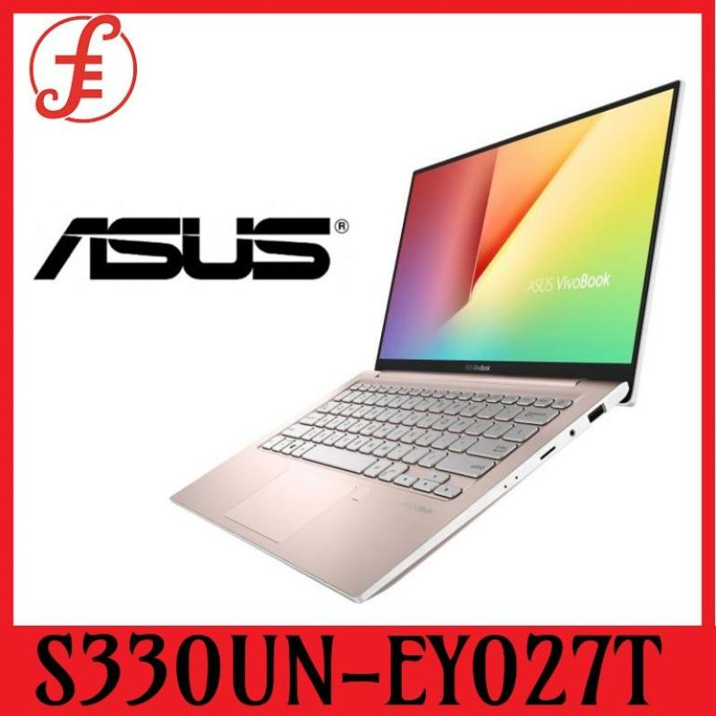ASUS S330UN-EY027T VIVOBOOK S330UN-EY027T i5-8250U processor 1.6 GHz (6M Cache, up to 3.4 GHz)  Memory: LPDDR3 8GB on board  Memory Slot: N/A  Storage: SATA3 512G M.2 SSD  VGA: NVIDIA GeForce MX150  VRAM: GDDR5 2GB (S330UN-EY027T)