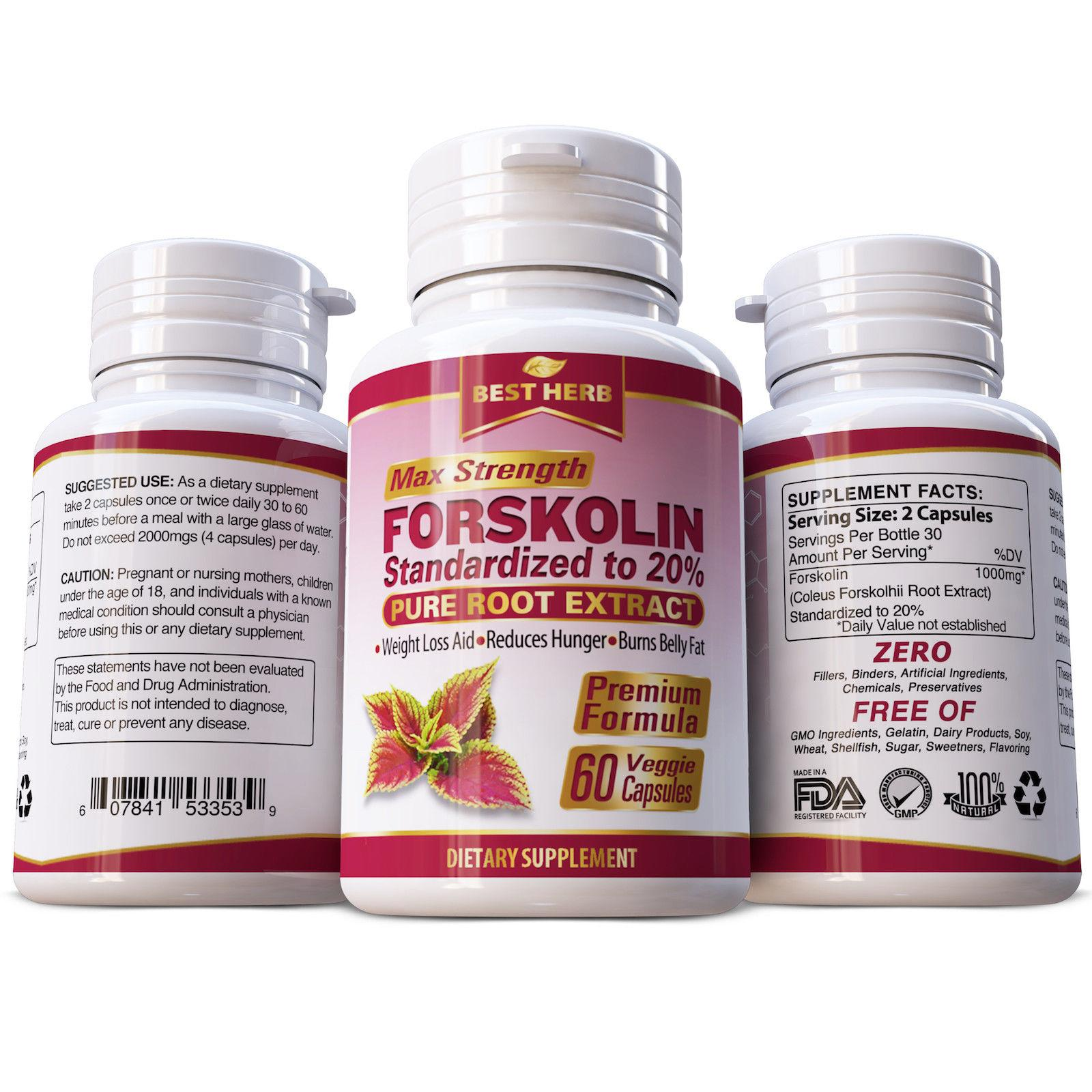 Check Price 1 Bottle 1 Forskolin Extract Extract Pills Weight