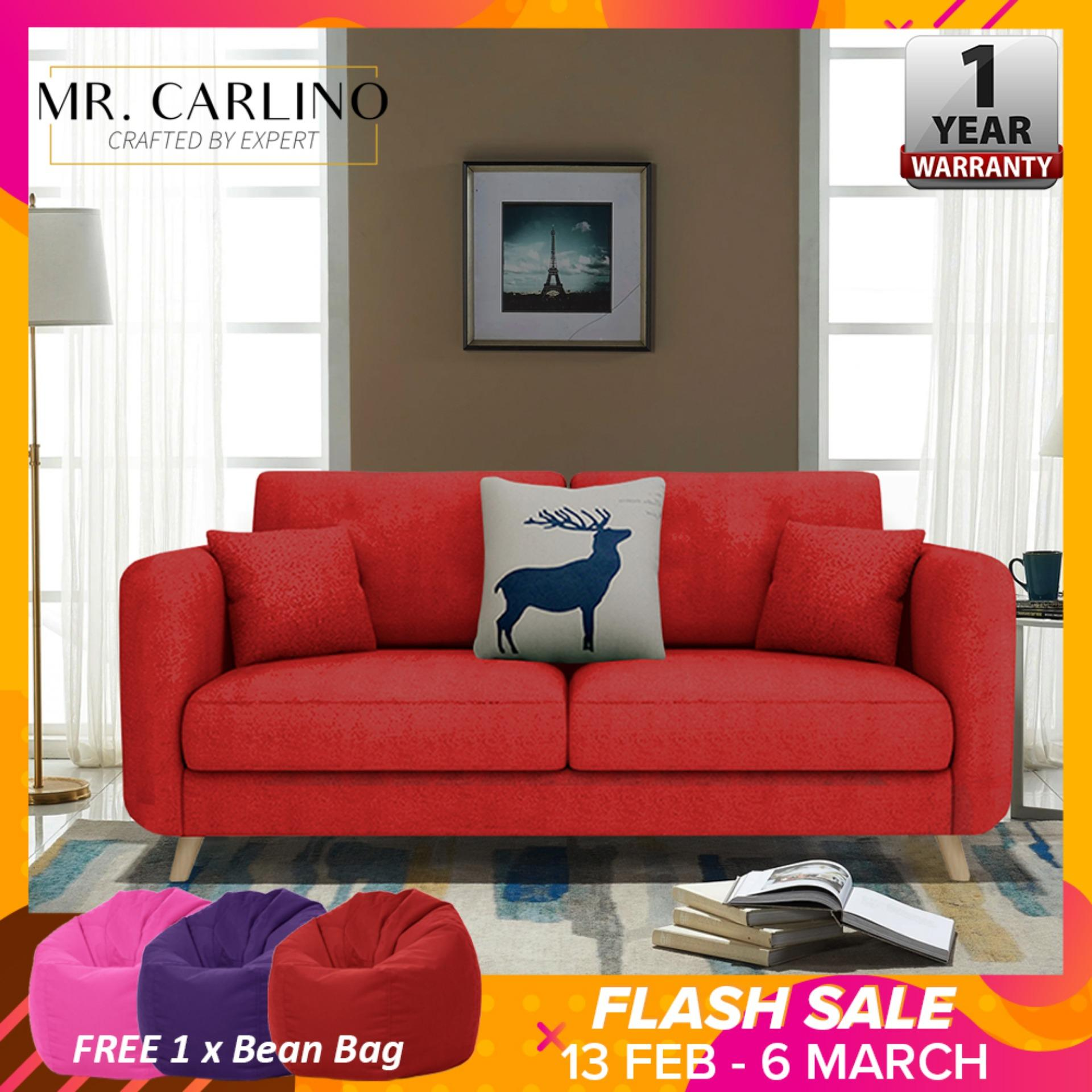ABIGAYLE 2 Seater Sofa Home & Living Room Furniture with FREE Bean Bag