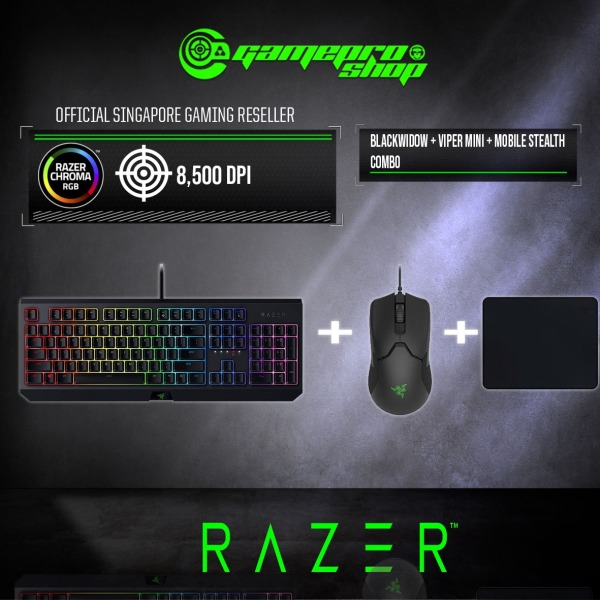 (PROMOTION) Razer Viper Mini Mouse + Razer BlackWidow Keyboard + Goliathus Mobile Stealth Mousepad Singapore