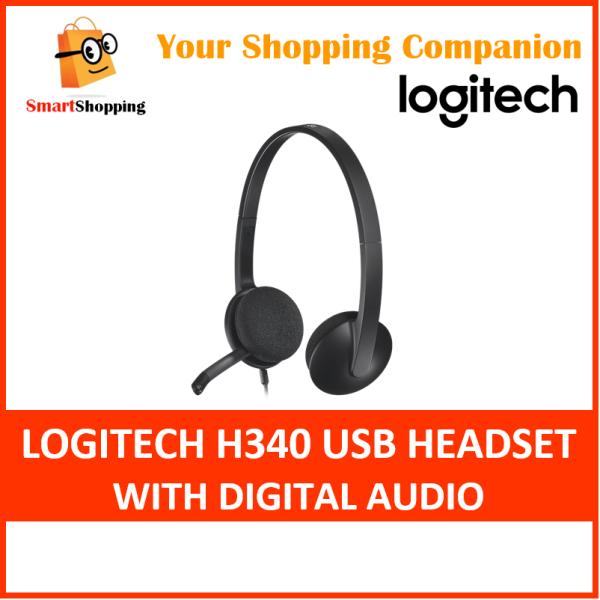 Logitech H340 USB Computer Headset Noise Cancellation Mic Digital Audio Sound 2 Years SG Warranty 981-000477 Singapore