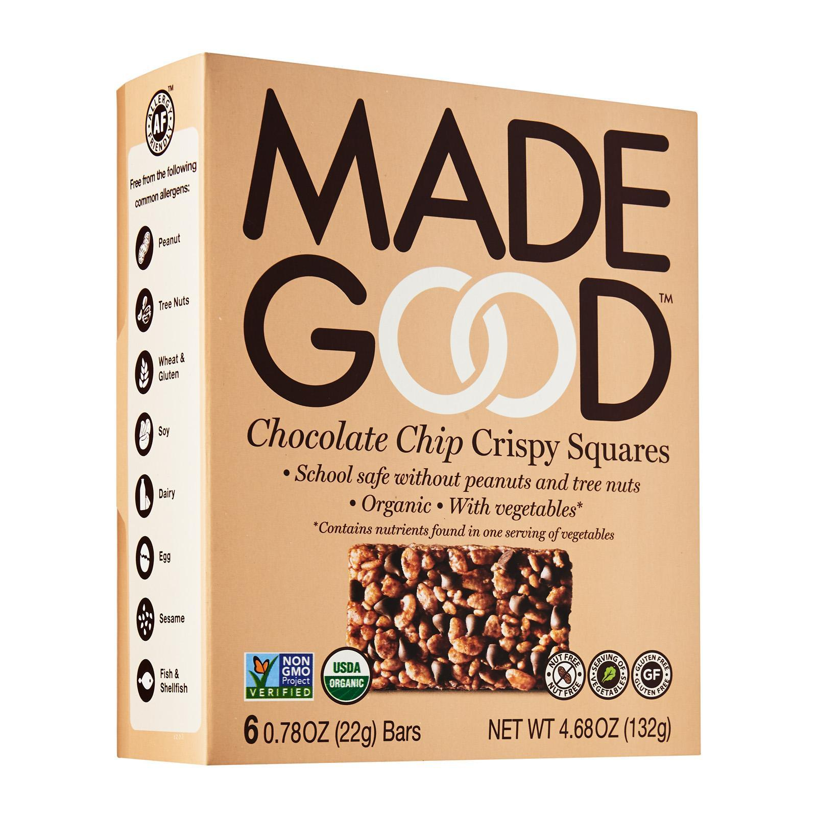 Made Good Organic Crispy Squares Chocolate Chip By Redmart.