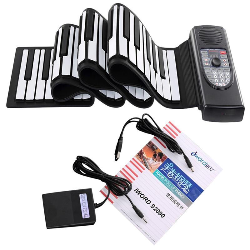 Hand Roll Piano 88 Keys Flexible Keyboard Portable Silicone Rechargeable Electric Piano Built-In Battery And Speaker Malaysia