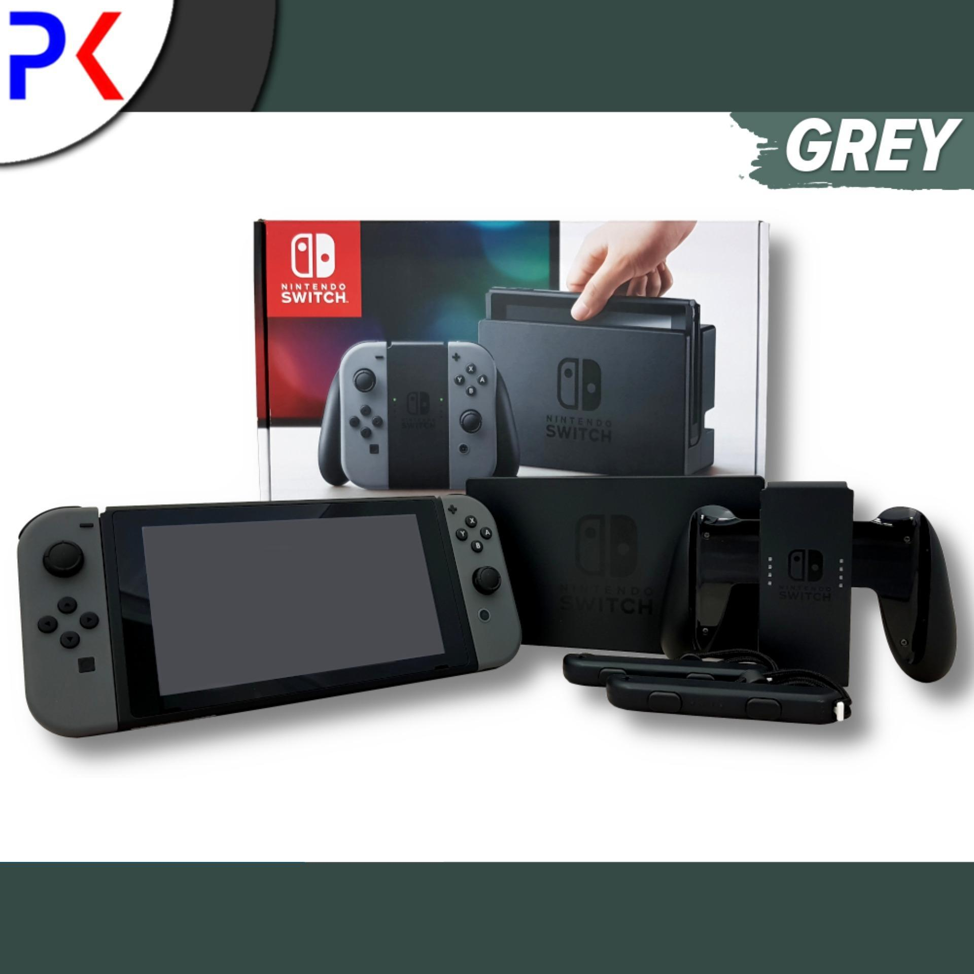 Nintendo Switch Console With Grey Joy-Con By Peppkouri.