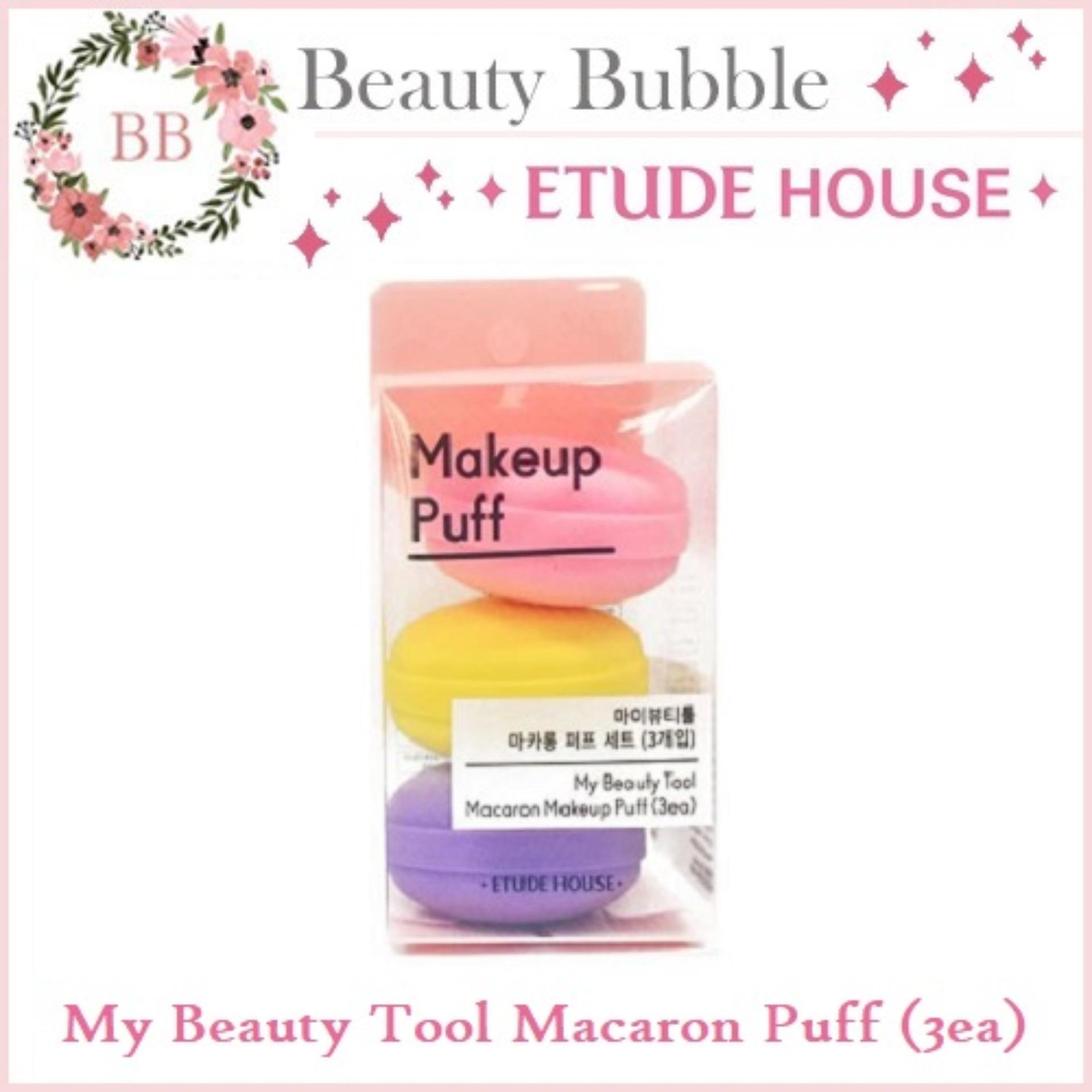 Etude House My Beauty Tool Macaron Makeup Puff / Makeup Sponge / Beauty Blender (3 Puffs In 1 Pack) - Beautybubble By Beautybubble.