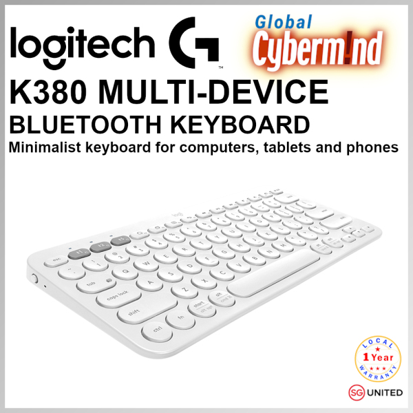 Logitech K380 Slim Multi-Device Bluetooth Keyboard (iOS, Android, OSX, iPhone) with Logitech FLOW Technology ( Brought to you by Global Cybermind ) Singapore