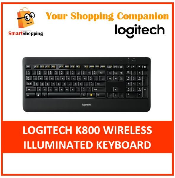 Logitech K800 Wireless Illuminated Keyboard with Unifying Local Stock warranty by Logitech Singapore 920-002361 K 800 Singapore